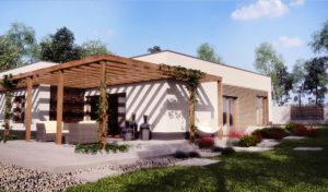 projekt domu z płaskim dachem archiwizja